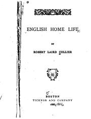 Cover of: English home life | Robert Laird Collier