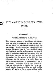 Cover of: Five months at Cairo and in Lower Egypt, tr. by W. Conn, with additional notes by the author by Gabriel Charmes