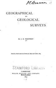 "Cover of: Geographical and Geological Surveys. ""From the North American Review for July and October, 1875"" 