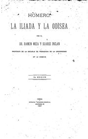 Cover of: Homero: La Iliada y la odisea by Ramón Meza y Suárez Inclán