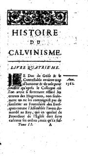 Cover of: Histoire du calvinisme by Louis Maimbourg
