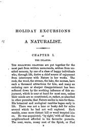 Cover of: Holiday excursions of a naturalist [by R. Garner] by Robert Garner
