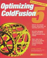 Cover of: Optimizing ColdFusion 5 | Chris Cortes