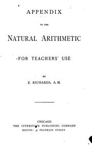 Cover of: The Natural Arithmetic | Zalmon Richards