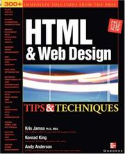 Cover of: HTML & Web Design Tips & Techniques | Kris A. Jamsa