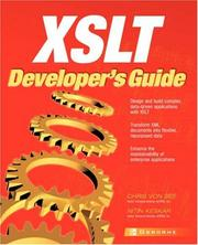 Cover of: XSLT Developer's Guide by Chris Von See