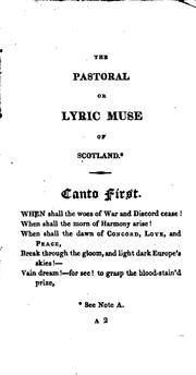 Cover of: The Pastoral Or Lyric Muse of Scotland: In Three Cantos | Hector Macneill