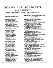 Cover of: Songs for soldiers by William Cox Bennett