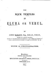 Cover of: The Rock Temples of Elurâ Or Verul by James Burgess