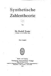 Cover of: Synthetische Zahlentheorie | Rudolf Fueter