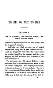 Cover of: To be, or not to be? Tr. by mrs. Bushby by Hans Christian Andersen