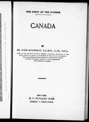 Cover of: Canada | Bourinot, John George Sir