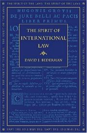 Cover of: The Spirit of International Law (The Spirit of the Laws) | David J. Bederman