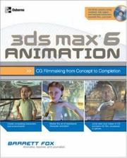 Cover of: 3ds max 6 Animation by Barrett Fox