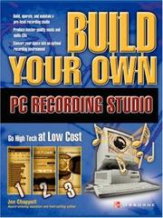 Cover of: Build Your Own PC Recording Studio | John Chappell