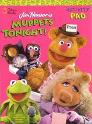 Cover of: Muppets Tonight! \Activity Pad (Muppets) by Golden Books