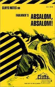 Cover of: Absalom, Absalom! | James Lamar Roberts