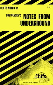 Cover of: Notes from underground | James Lamar Roberts