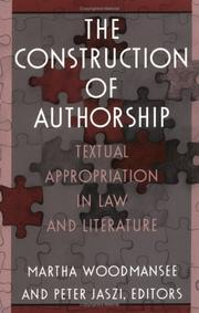 Cover of: The Construction of Authorship by Martha Woodmansee