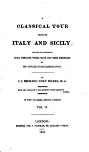 Cover of: A classical tour through Italy and Sicily | Richard Colt Hoare