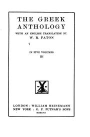 Cover of: The Greek Anthology by William Roger Paton