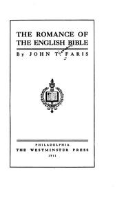 Cover of: The Romance of the English Bible by John Thomson Faris