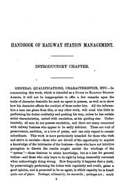 Cover of: The handbook of railway station management; or, Agent's manual by Edmund B. Ivatts
