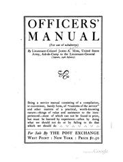 Cover of: Officers' Manual (for Use of Sunbaterns) by James Alfred Moss