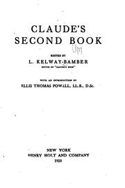 Cover of: Claude's Second Book | L. Kelway Bamber