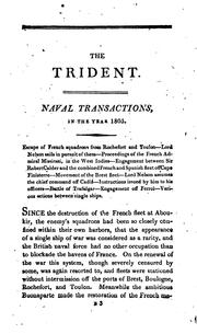 Cover of: The British trident; or, Register of naval actions, from ... the Spanish armada to the present time by Archibald Duncan