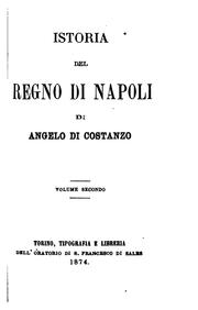 Cover of: Istoria Del Regino Di Napoli by Angelo Di Costanzo