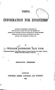 Cover of: Useful Information for Engineers by Fairbairn, William Sir