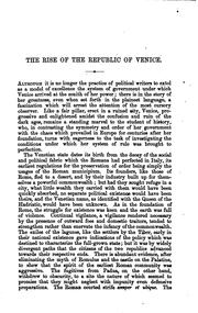 Cover of: The Rise of the Republic of Venice: The Arnold Prize Essay, 1876 | William George Waters