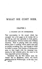 Cover of: What he cost her | James Payn