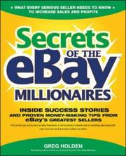 Cover of: Secrets of the eBay Millionaires | Greg Holden