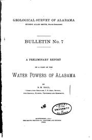 Cover of: Bulletin - Geological Survey of Alabama | Geological Survey of Alabama