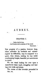 Cover of: Aubrey, by the author of 'Emilia Wyndham' by Anne Marsh- Caldwell