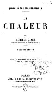 Cover of: La chaleur by Achille Auguste Cazin