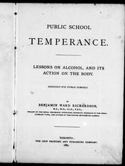 Cover of: Public school temperance by Richardson, Benjamin Ward Sir