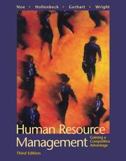 Cover of: Human Resource Management | Raymond A. Noe, Patrick M. Wright, Barry Gerhart, John R. Hollenbeck