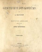Geschichte des kostüms in chronologischer entwicklung von A. Racinet