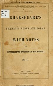 Cover of: Shakespeare's dramatic works and poems | William Shakespeare
