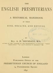 Cover of: The English Presbyterians | Drysdale, Alexander Hutton