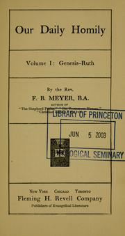 Cover of: Our daily homily by Meyer, F. B.