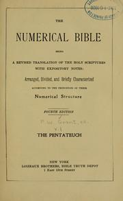 Cover of: The numerical Bible | Frederick W. Grant