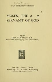 Cover of: Moses | Meyer, F. B.