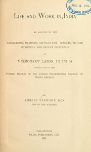Cover of: Life and work in India | Stewart, Robert