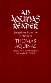 Cover of: An Aquinas Reader by Mary T. Clark