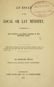 Cover of: An essay on the local or lay ministry | Richard Mills