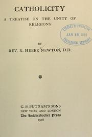 Cover of: Catholicity by Richard Heber Newton